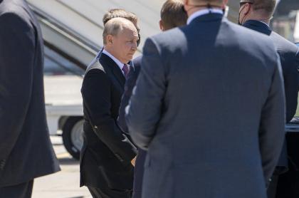 Vladimir Putin, a su llegada a Ginebra