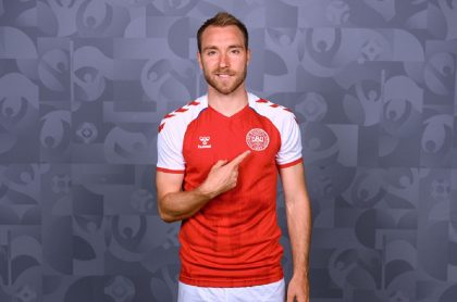El futbolista Christian Eriksen, de la Selección de Dinamarca y el Inter de Milán.