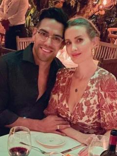 Foto de referencia de Falcao García y su esposa en nota de saludo de Falcao de cumpleaños de Lorelei en día del partido de Copa América.