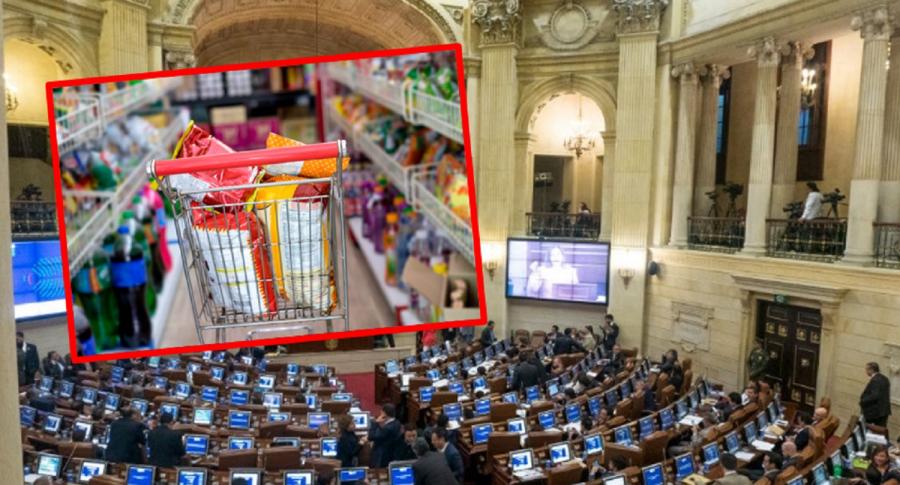 Imagen que ilustra la aprobación de Ley de comida chatarra en el Congreso.