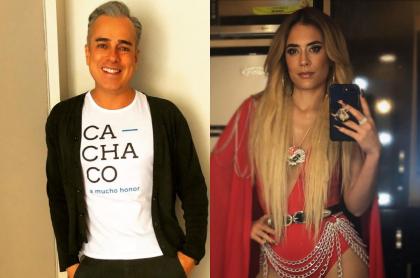 Foto de Jorge Enrique Abello y Carolina Ramírez ('La reina del flow'), a propósito de que él iba a ser el amante en 'La Pola'