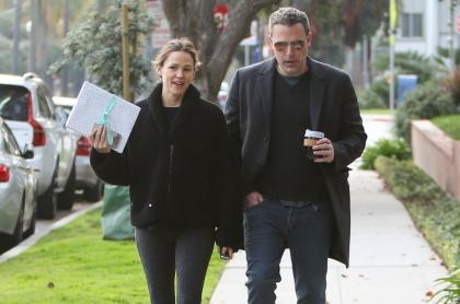 Jennifer Garner, actriz; Ben Affleck, actor; caminando por Nueva York.
