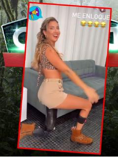 Daniella Álvarez, bailando en el camerino del 'Desafío'.