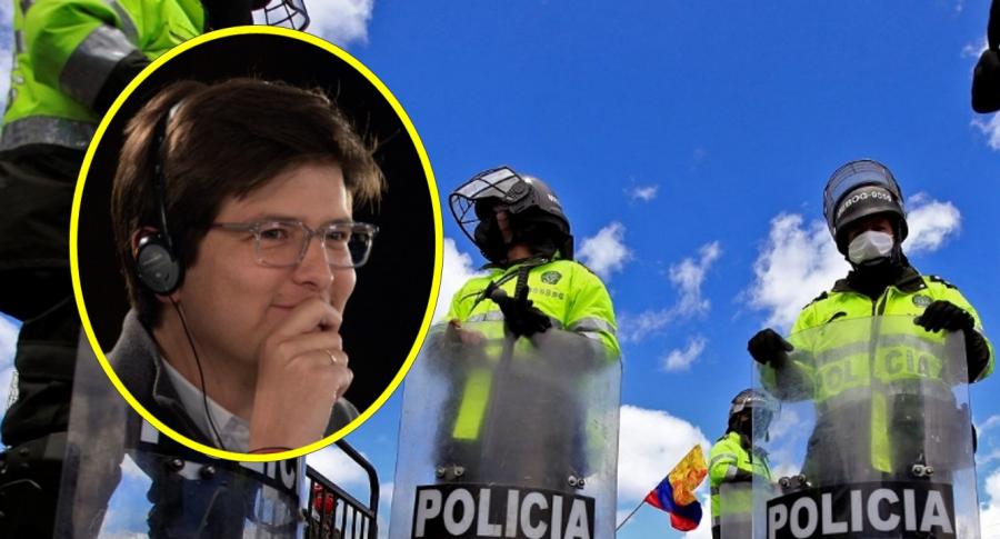 Miguel Uribe Turbay, que rompió meta en vaca para ayudar a policías, y uniformados
