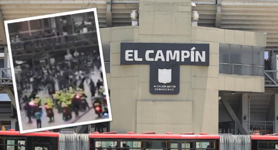 Fuertes choques entre hinchas de Millonarios y Esmad en El Campín luego de final ante Tolima por Liga BetPlay.