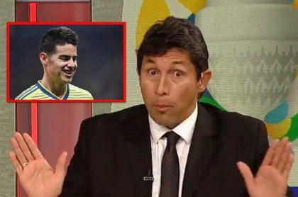 Jorge 'Patrón' Bermúdez defiende a William Tesillo y a James Rodríguez tras partido Colombia vs. Perú.