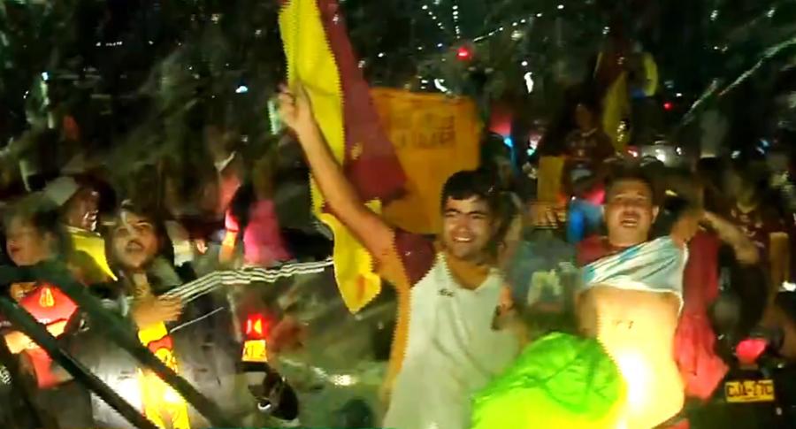 Así recibieron al Deportes Tolima en Ibagué, a donde llegó con el título.