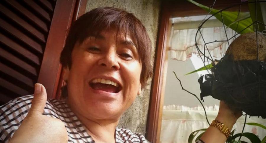 Selfi de Graciela Torres, 'la Negra candela', a propósito de que Vea asegura a RCN a presentar programa de chismes.