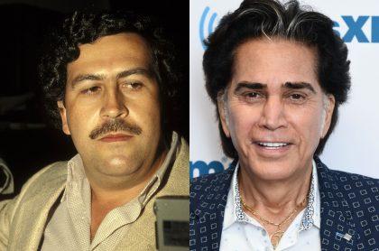 Foto de Pablo Escobar y 'El Puma', a propósito de si el narcotraficante le pegó al cantante por celos