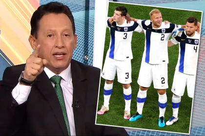 "Óscar Rentería, a selección de Finlandia en la Eurocopa: ""Rayas feas"". Fotomontaje: Pulzo."