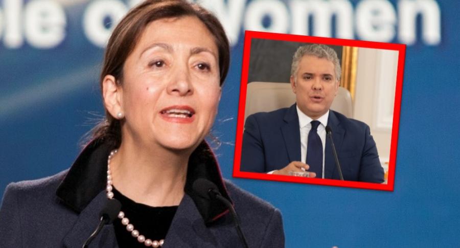 """Íngrid Betancourt, que vio """"muy golpeado"""" a Iván Duque por la crisis, y el presidente"""