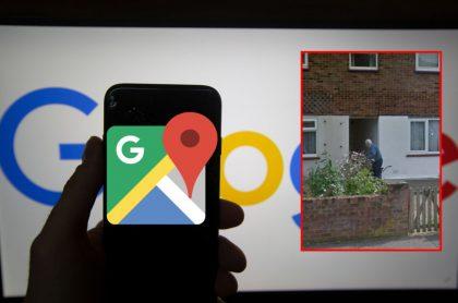Logo de Google Maps y captura de pantalla de internauta que encuentra foto de familiar ya fallecido