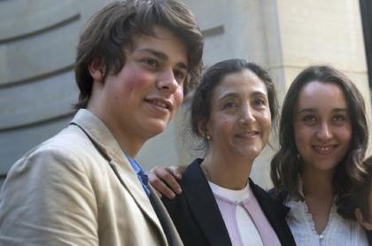 Íngrid Betancourt y sus hijos
