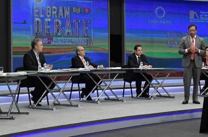 Favorabilidad de políticos y precandidatos en Colombia encuesta Datexco