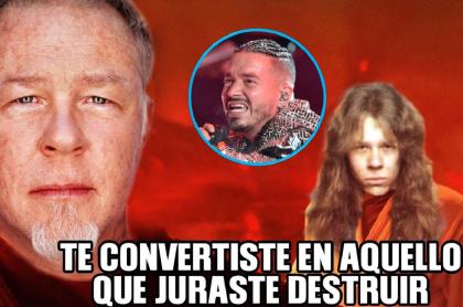 Uno de los memes contra Metallica por colaboración con J Balvin.