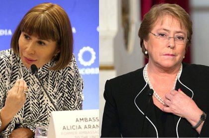 Alicia Arango contradice a Michelle Bachelet sobre muertos durante protestas