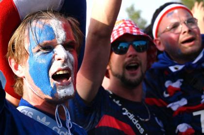Hinchas de Francia viajaron y confundieron Bucarest con Budapest en la Eurocopa. Imagen de referencia.