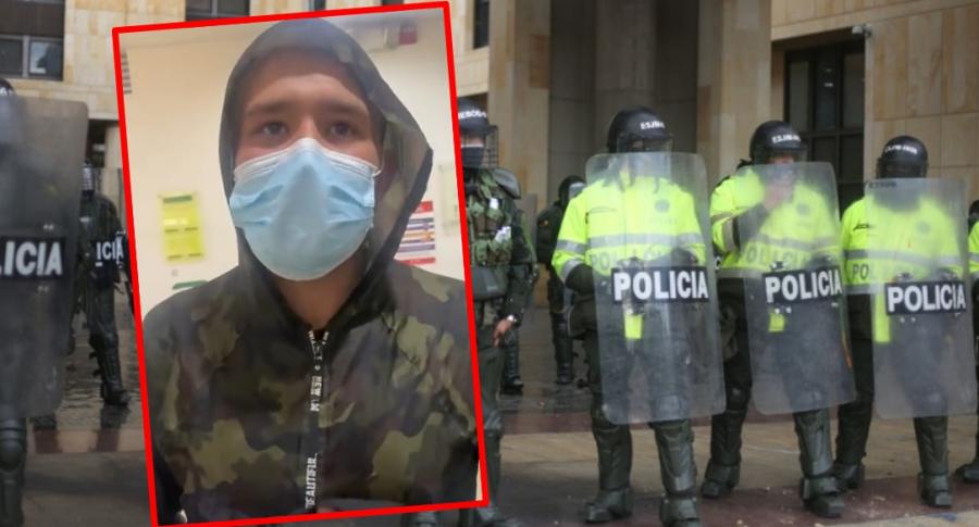 Johan Sebastian Moreno, supuesto joven desaparecido por la Policía.
