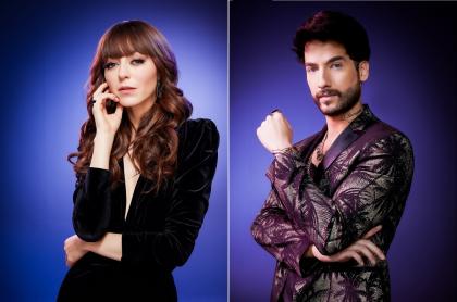 Luna Baxter y Carlos Torres en 'La reina del flow', a propósito de que la actriz dijo qué tan duro fue hacer escenas de amor con ese actor.