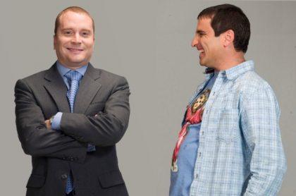 Christian Tappan y Róbinson Díaz en 'Vecinos', a propósito de que el primer actor habló de sus vecinos de Bogotá y Chía y dijo qué tipo de vecino es (fotomontaje Pulzo).