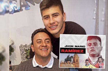 Foto de Instagram de Jhon Mario Ramírez, junto a su hijo Mateo, quien envió un mensaje antes de la muerte del exfutbolista.