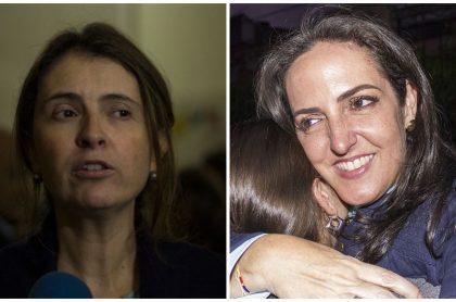 Paloma Valencia y María Fernanda Cabal, senadoras del Centro Democrático.