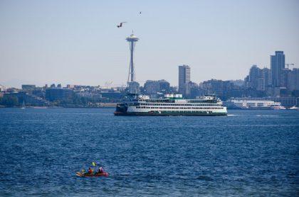 Imagen de Seattle que ilustra nota; Ola de calor en Canadá y Estados Unidos; temperatura de 46 grados