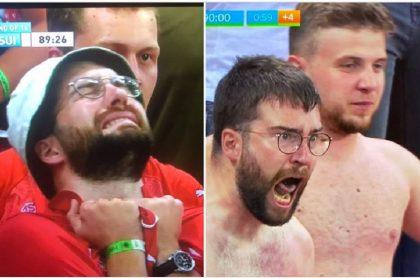 Hincha de Suiza que conmovió por su reacción en últimos minutos del partido contra Francia por la Eurocopa