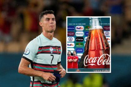 Cristiano Ronaldo y montaje que hicieron de Coca-Cola rechazando al jugador