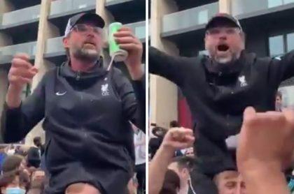 Hincha igual a Jurgen Klopp se roba el show antes del partido Inglaterra-Alemania de Eurocopa