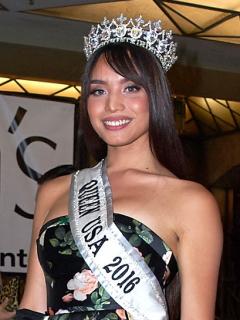 Kataluna Enriquez, primera concursanta transexual de Miss Estados Unidos, en 2017.