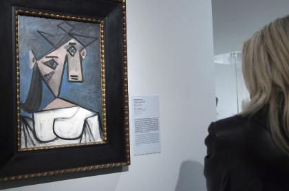 Cuadro 'Cabeza de Mujer' de Pablo Picasso, que fue encontrado por la policía de Grecia 9 años después de que fue robado