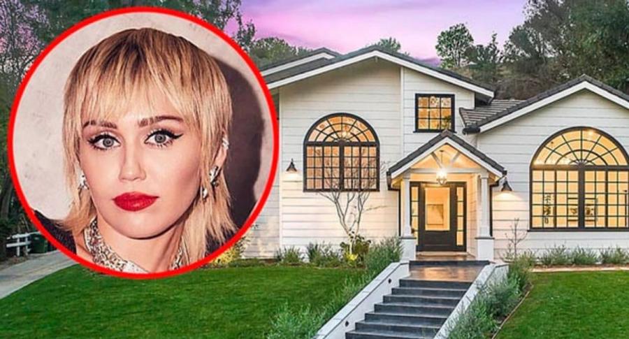 Miley Cyrus, cantante; y mansión que vendió en Hidden Hills.