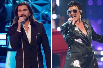 Juanes, cantante; Demi Lovato, cantante, en el día mundial del Ovni