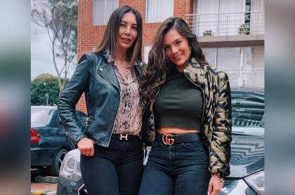 Foto de Vibiana Tejeiro y Lina Tejeiro, a propósito de que la mamá de la actriz actuó en 'La ley del corazón'