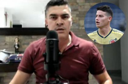 Fotos de Eduardo Luis y de James Rodríguez, en nota sobre crítica al jugador por su actitud frente a Selección Colombia en la Copa América.