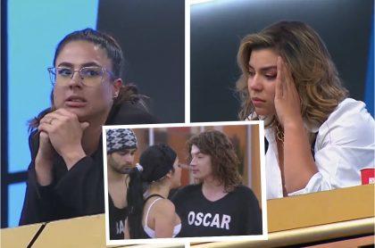 Montaje con imágenes de Carla Giraldo (izquierda), Liss Pereira y foto de Elianis Garrido enfrentada con Óscar Naranjo (recuadro). Ilustra nota sobre los memes de 'Masterchef Celebrity', un capítulo que más pareció de 'Protagonistas de Novela'.