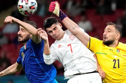 Italia, a la final de la Eurocopa 2021 luego de eliminar a España por penaltis. Imagen del partido.