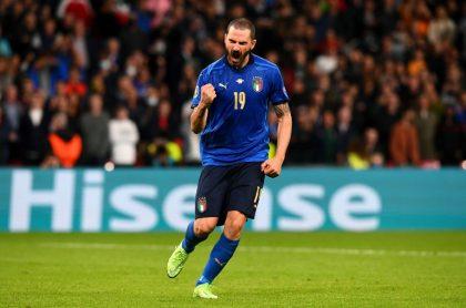 Leonardo Bonucci, celebrando el paso de Italia a la final de la Eurocopa.