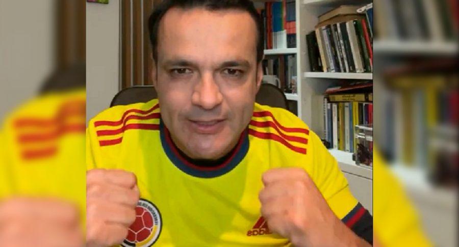 Juan Diego Alvira, de Noticias Caracol, recordó su pasado como futbolista y periodista deportivo.