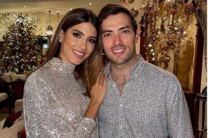 Martín Santos, quien celebra cumpleaños de su novia Gabriela Tafur en globo, en México