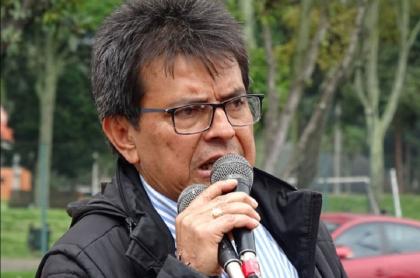 Imagen del líder sindical William Agudelo, presidente de la ADE, que murió