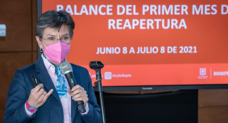 Claudia López hizo un balance del COVID-19 en Bogotá, y dijo que lo peor del tercer pico ya pasó