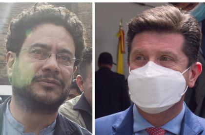 Iván Cepeda, que anunció control político contra Diego Molano, y el ministro de Defensa