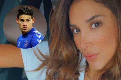 Fotos de James Rodríguez y Daniela Ospina, en nota de baile que hizo su hija y grabó en video la madre.