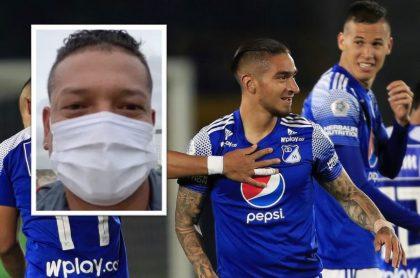 edy Guarín reapareció este sábado en sus redes sociales y le envió un mensaje a toda la hinchada de Millonarios.