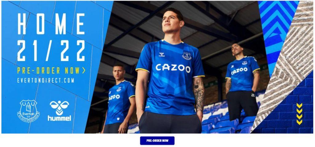 Página web del Everton