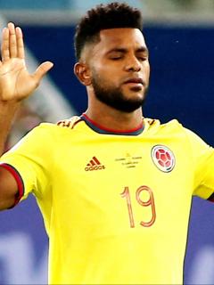 Boca Juniors cierra acuerdo por Miguel Ángel Borja, falta concretar su sueldo. Imagen del jugador colombiano.