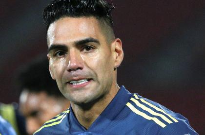 Falcao García justificó a arquero de Argentina que ofendió a colombianos. Imagen del delantero samario.