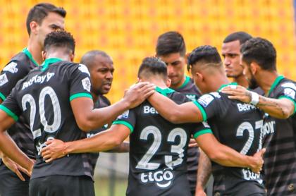 Atlético Nacional no pudo inscribir a sus refuerzos por deuda con Cortuluá. Imagen del cuadro verdolaga.